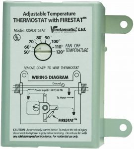 image of a thermostat for attic fan