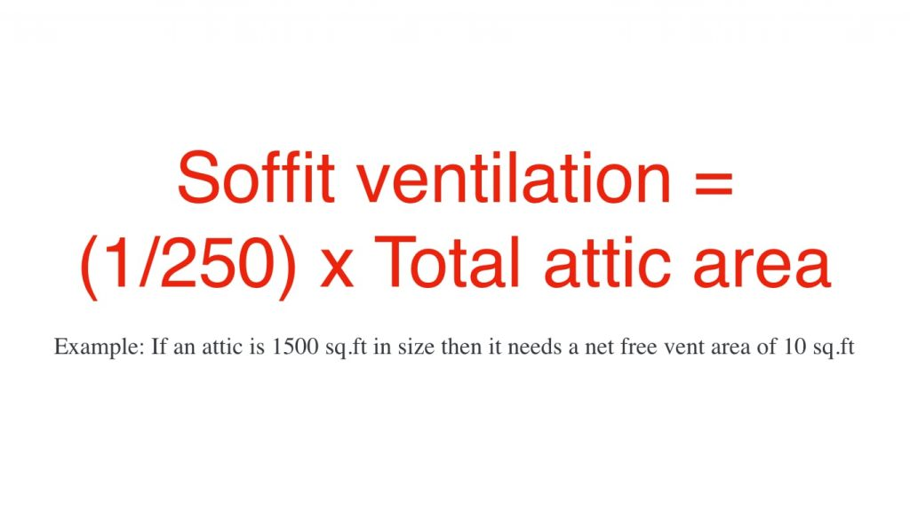 Calculation of soffit ventilation size