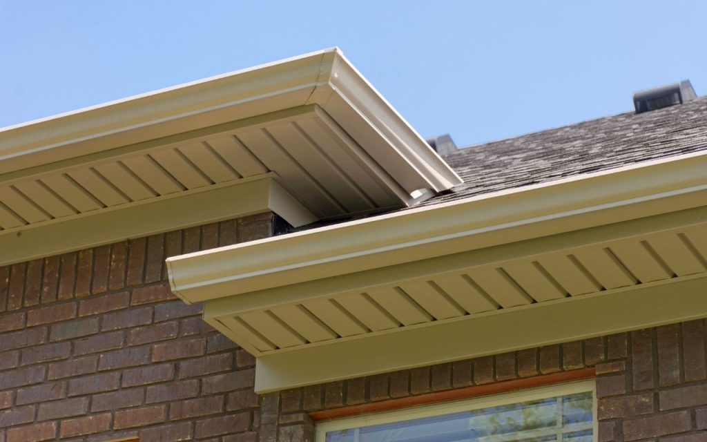 picture of Soffit vents on a roof