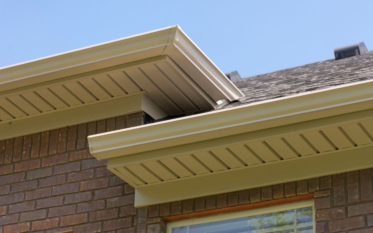 Soffit vents installed on a roof