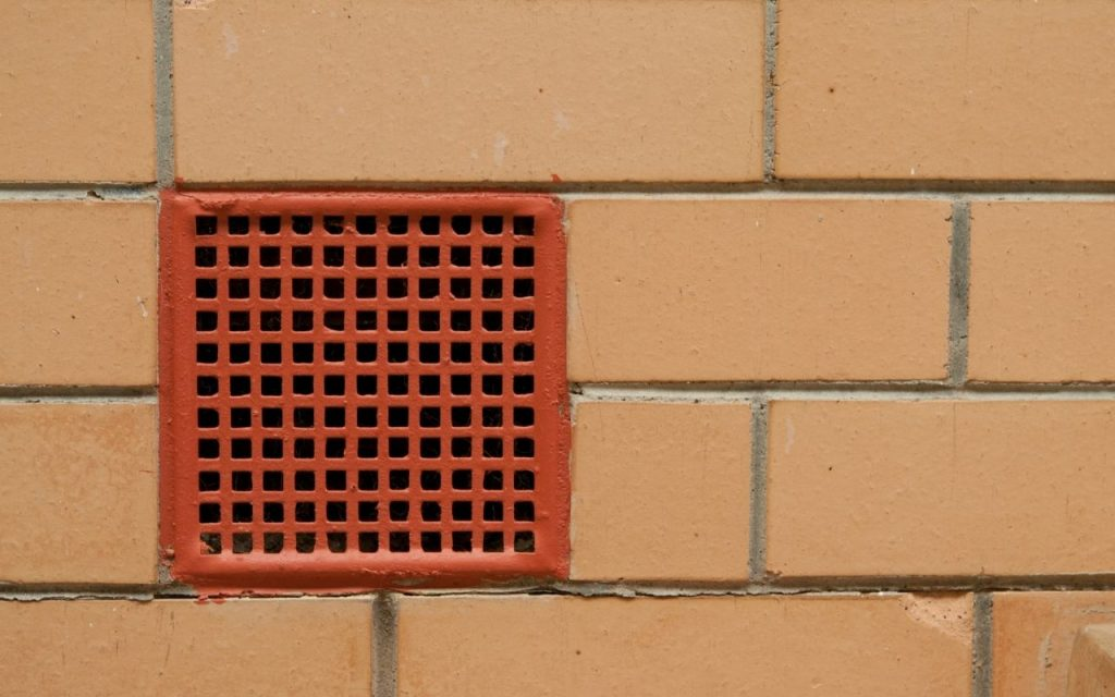 Image of a wall vent of a garage