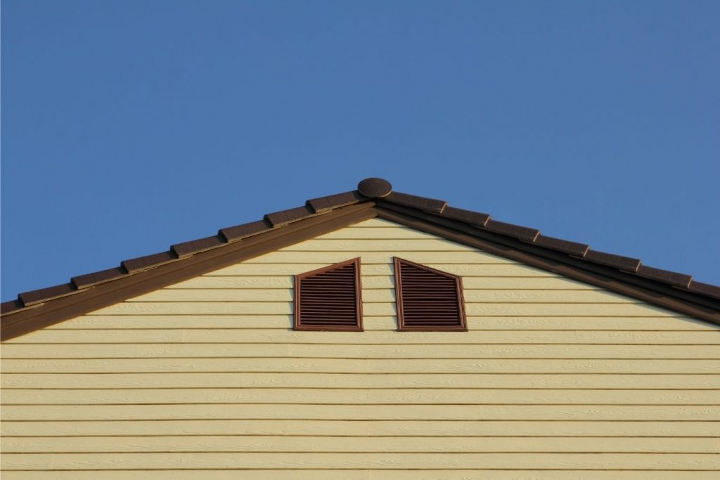 Picture of a gable vent