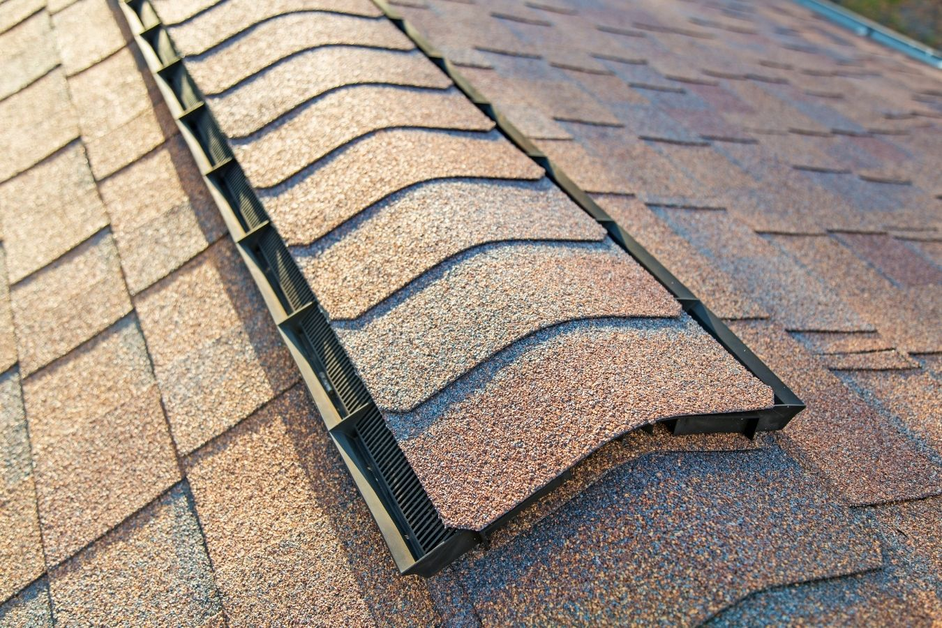 Image of ridge vents installed on a roof