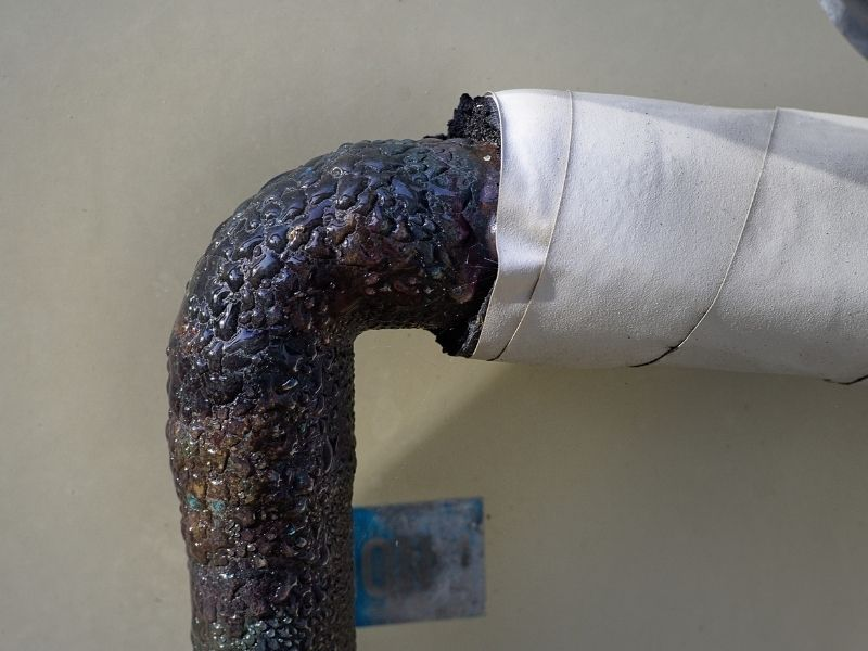 condensations on a pipe