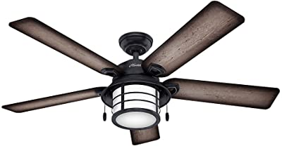"""Hunter Biscayne 54"""" Weathered Zinc Outdoor Ceiling Fan"""