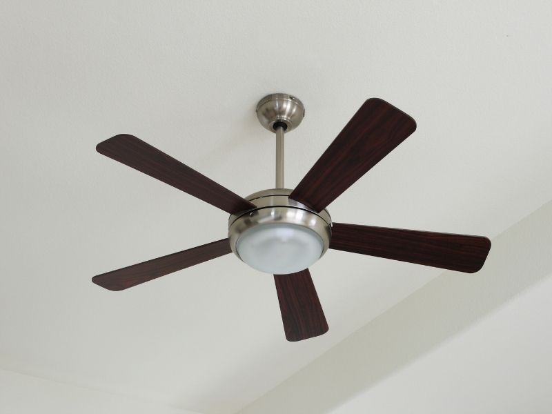 Image of a ceiling fan with 5 blades