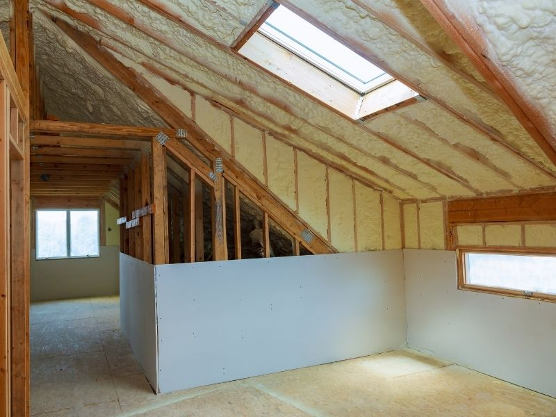 An R30 insulated attic ceiling